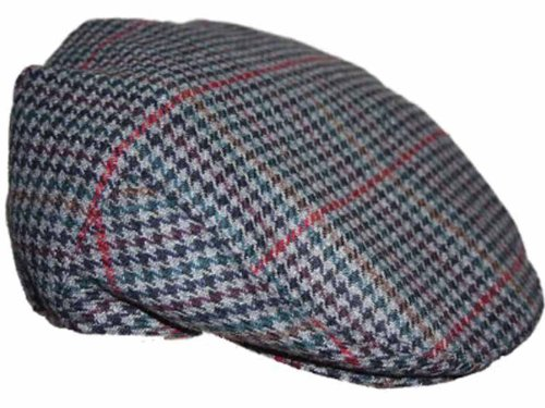 eb3917eb3 Adults Unisex Mens ladies Tweed Country Style Flat Cap Hat Pauls XL 60cm  Grey