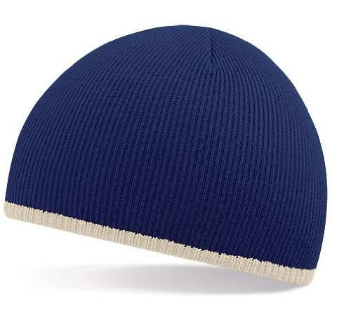 3c0c31242 BEECHFIELD TWO TONE BEANIE KNITTED HAT CAP - 5 COLOURS (FRENCH NAVY ...