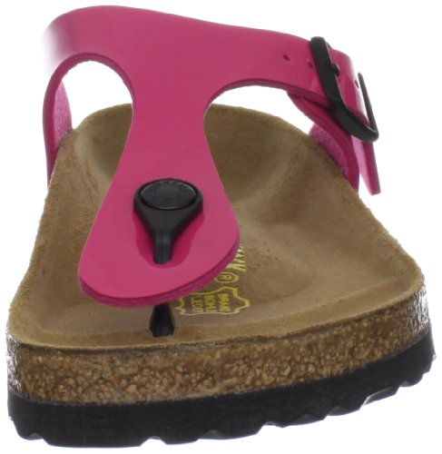 Womens Birkenstock Gizeh Lack Pink Patent Sandals (845601) 5
