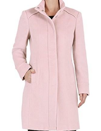 Bonmarche Womens Funnel Neck Coat Pink Size 24 Top