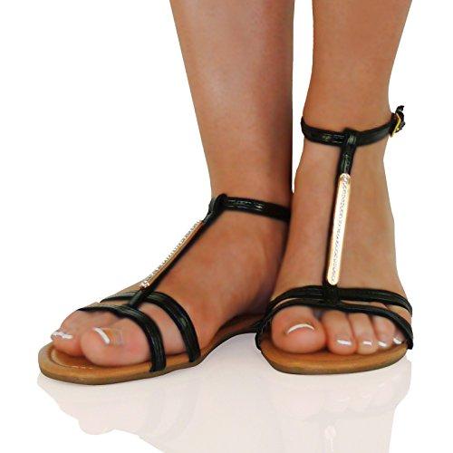 Fashion Women's flat sandals Bohemian Roman fine velvet beaded flat shoes