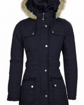 Navy Parka Coat Womens