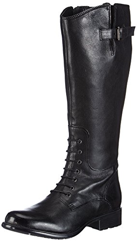 7283196e0f2 Clarks Womens Casual Clarks Mullin Clove Leather Boots In Black ...