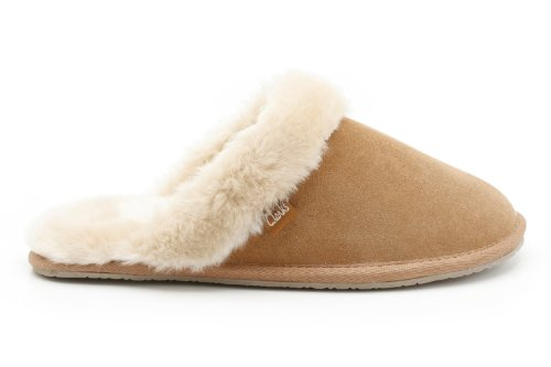 Clarks Womens Seasonal Clar Wren Bird Suede Slippers In