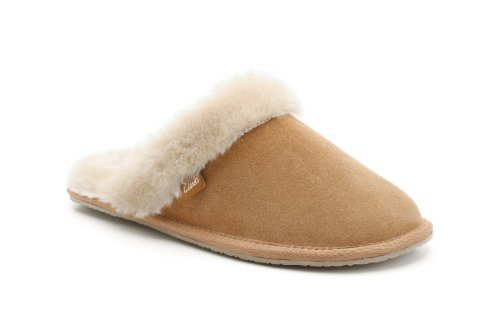 b15c46311ab94 Clarks Womens Seasonal Clar Wren Bird Suede Slippers In Tan Standard ...