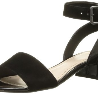 bfc4b1dda1bf81 Clarks Womens Smart Clarks Sharna Balcony Suede Sandals In Black ...