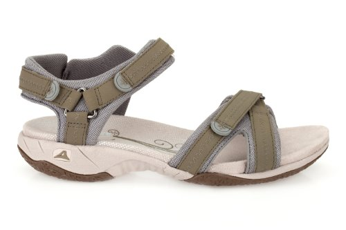Clarks Womens Sport Clarks Isna Pebble Nubuck Sandals In