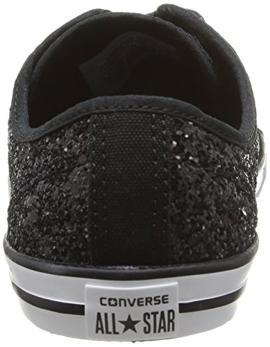 df05afa6cd69 Converse Womens As Dainty Femme Sparkle OX Trainers 382280 8 Noir 7 ...