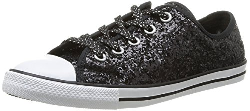 eb7f75947684a1 Converse Womens As Dainty Femme Sparkle OX Trainers 382280 8 Noir 7 ...