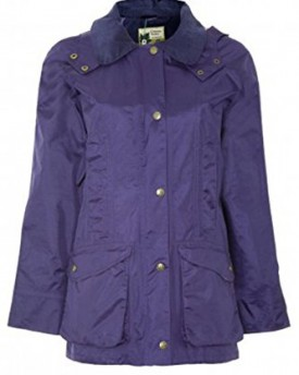 Candy Floss Ladies Quilted Padded Button Zip Jacket Coat