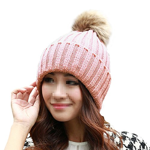 Djt Women Lady Candy Color Wooly Knitted Beanie Warm