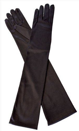 dents long satin evening dress gloves 34 elbow length