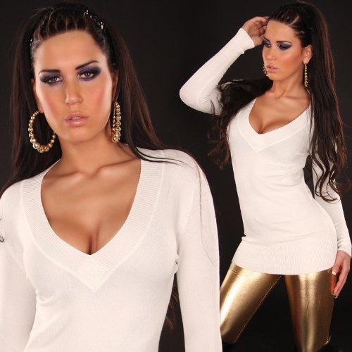 0bbf334c54 Elegant Stylish V neck Plain Sexy Knitted Mini Dress Tunic Jumper ...