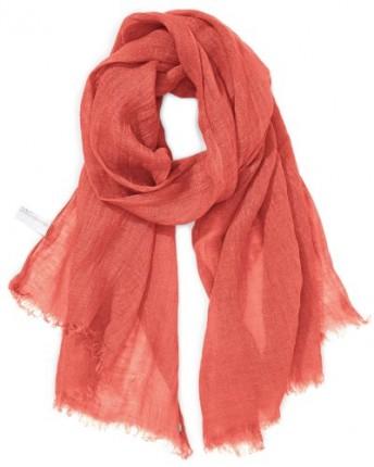 Esprit-Womens-Linen-Scarf-Orange-Reef-Coral-One- 37aad656ef9a8
