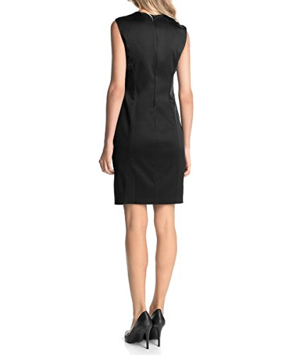 esprit women 39 s satin dress with gemstone neckline black schwarz black 001 6 top. Black Bedroom Furniture Sets. Home Design Ideas