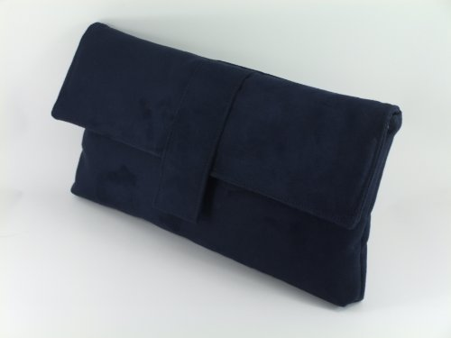 ...  Fab Large Faux Suede Clutch BagShoulder Bag In Dark Navy Blue