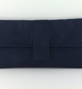 ...  Fab Large Faux Suede Clutch BagShoulder Bag In Dark Navy Blue
