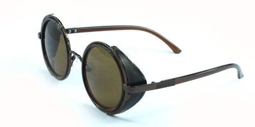 365289fec63 FashionLDN® Steampunk Sunglasses 50s Round Glasses Cyber Goggles ...