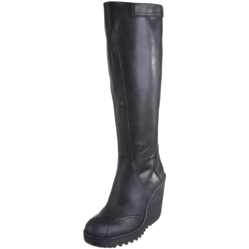67110485d8c Fly London Women s Cher Wedge Boot Leather Black P500160005 7 UK ...