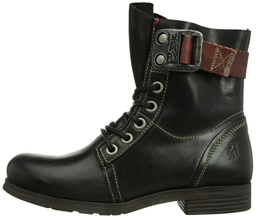 Fly London Womens Stay Rug Biker Boots P142807010 Black 7