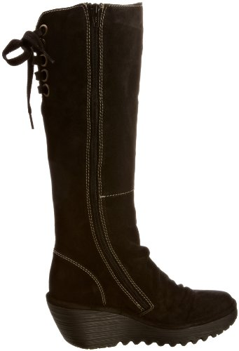 Fly London Womens Yust Oil Suede Boots P500327006 Black 5