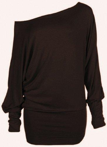 Funky Boutique Womens Long Sleeve Off Shoulder Plain