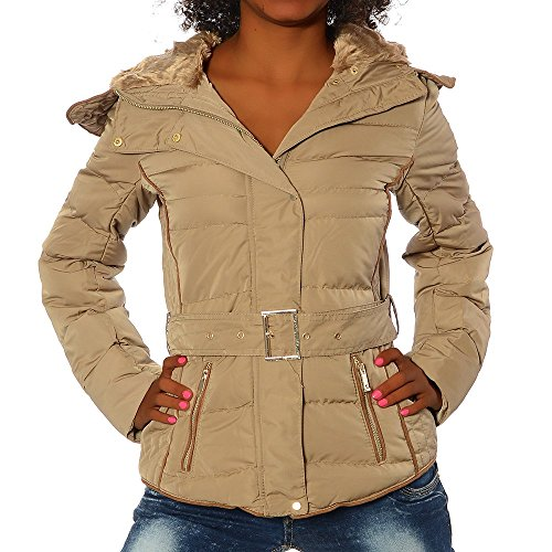 G650 Ladies Winter Quilted Jacket Color Beige Sizes M