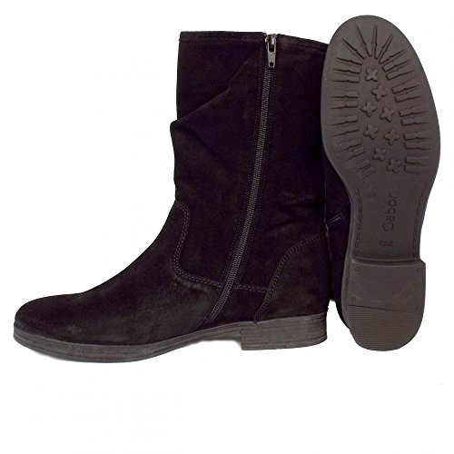 Gabor Women S Dolce Mid Calf Slouch Suede Black Boots 5 0