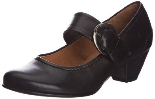 Black Maryjane Stack Heel Shoes