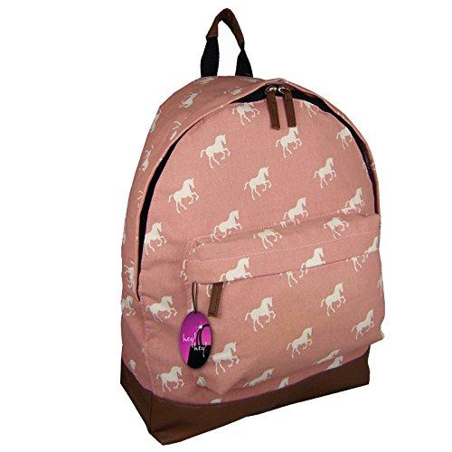 Hey Hey Handbags Ladies Canvas Retro Print Backpack