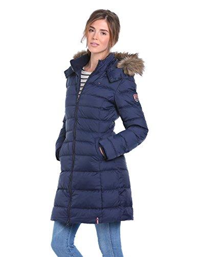 3d9df6b9 Hilfiger Denim Women's Maria Down Long Sleeve Coat, Blue (Peacoat ...