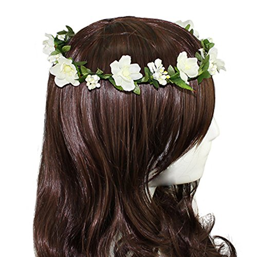 f6b7c7f67f4 Hippies Flower Headband Garland Crown Festival Wedding Hair Wreath ...