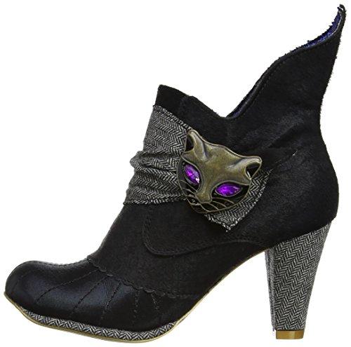 Irregular Choice Women s Miaow Boots 3432-2P-39 Black Grey 6 UK ec8c4391e4