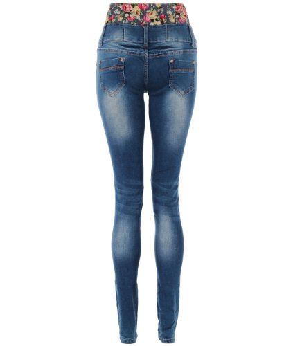 c35dfc1339 KRISP High Waisted Skinny Slim Jeans Trousers Pants Sexy Dark Wash ...