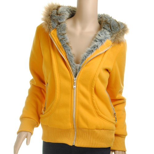 Kingso 174 Trendy Womens Winter Thicken Hoodie Casual Zipper