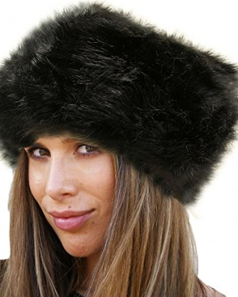 LADIES WOMENS GLAMOROUS FAUX FUR RUSSIAN COSSACK HAT-BLACK - Top ... 809806cb871