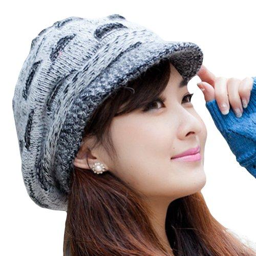 c67c2a0f7c160c LOCOMO Women Girl Slouchy Cut Openings Fluffy Knit Beanie Crochet ...