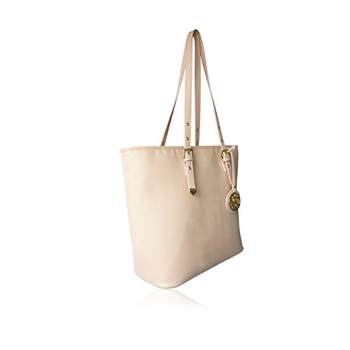 a3c80b34ded8 LYDC New Ladies Faux Leather Tote Handles Buckle Oversized Shoulder ...