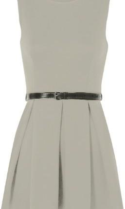 0f0d6fab42 Ladies Belted Flared Skater Short Mini Dress Sleeveless Pleated ...