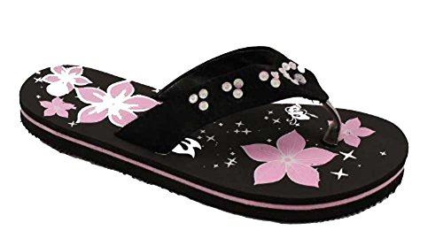 6ce1ecb8f0ad Ladies Black Summer Flat Sole Beach Flip Flop Sandals Size 3 to 7 UK ...