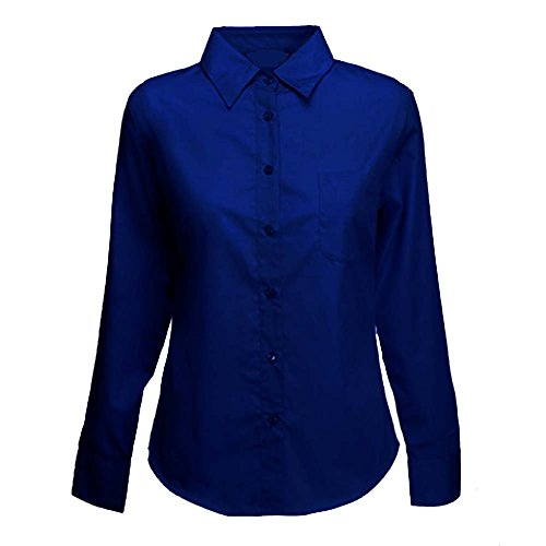 812920419 Ladies Long Sleeve Premium Oxford Formal Shirts Sizes 8 to 24 - WORK ...
