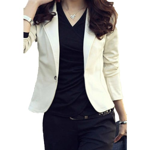 New Womens Ladies One Button Up Jacket Blazer Coat Top