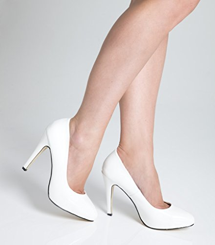 white heel shoes uk