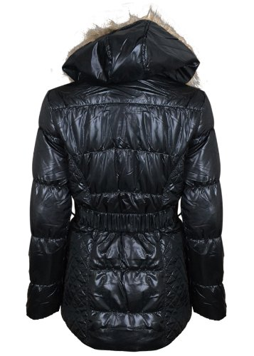 Jackets Coats Snow Outdoor Outerwear Size 10 12 14 16 18 (10, Black