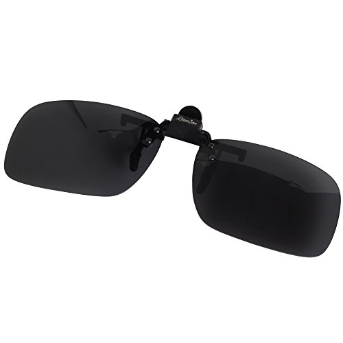 8f266136eb LianSan Women Gray Rectangle Clip on Sunglasses Polarized Men ...