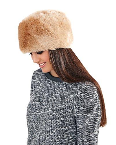 Lora Dora Womens Ladies Luxury Faux Fur Russian Cossack Ushanka Style Hat  Warm Winter Ski Head warmer Headband Mouse Brown Girls One Size - Top  Fashion Shop fe47d6788f6