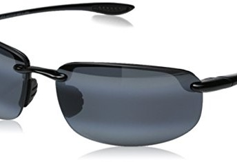 39886d392c Maui Jim 407-02 Black Hookipa Rimless Sunglasses Polarised - Top ...