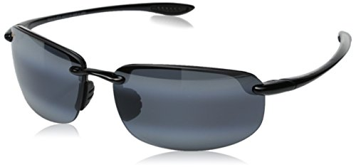 Maui Jim 407-02 Black Hookipa Rimless Sunglasses Polarised - Top ... 95a0d2f0df81
