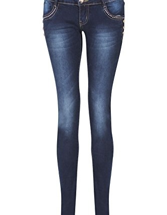 24db2f7c6c90e ... WAIST DUNGAREES JEANS COLLECTION. NEW-ELEGANT-LADIES-WOMEN-SKINNY-FIT- RIPPED-HIGH-