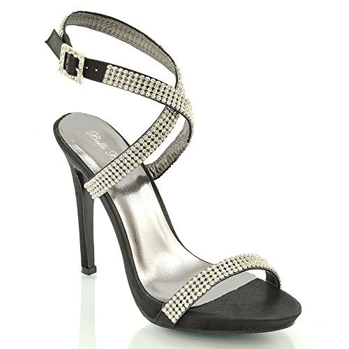 new womens high heel platform diamante prom